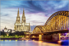 Sisustustarra  Lighted Cathedral with Rhine and Bridge, Cologne