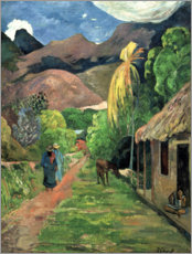 Canvas-taulu  Road into the mountains - Paul Gauguin