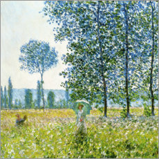 Puutaulu  Under the poplar trees - Claude Monet