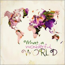 Sisustustarra  What a wonderful world (Map) - Mandy Reinmuth