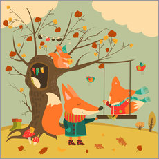 Sisustustarra  Swingin' in the autumn wind - Kidz Collection
