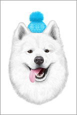 Galleriataulu  Samoyed with bobble hat - Valeriya Korenkova