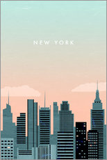 Sisustustarra  Illustration of New York - Katinka Reinke