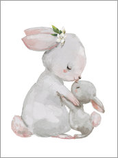 Galleriataulu  Sweet white bunnies - mother with child - Kidz Collection