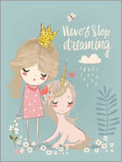 Canvas-taulu  Never stop dreaming - Eve Farb