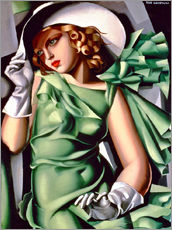 Sisustustarra  Young lady with gloves - Tamara de Lempicka