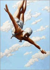 Akryylilasitaulu  Diver in the clouds - Sarah Morrissette
