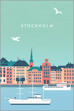Puutaulu  Illustration of Stockholm - Katinka Reinke