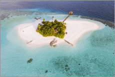 Akryylilasitaulu  Aerial view of dream island in the Maldives - Matteo Colombo