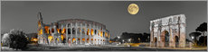 Akryylilasitaulu  Colosseum in the moonlight - Art Couture