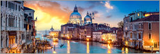 Akryylilasitaulu  Venice in the evening - Art Couture
