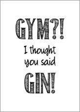 Canvas-taulu  Gym or Gin - Typobox