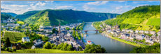 Akryylilasitaulu  Mosel valley in the sunshine - Art Couture
