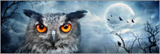 Canvas-taulu  Owl in the moonlight - Art Couture