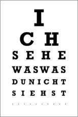 PVC-taulu  Eye test German - Typobox