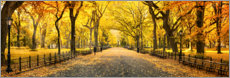 Puutaulu  Central Park in Autumn - Art Couture
