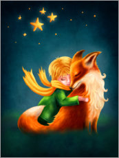 Alumiinitaulu  The Little Prince and The Fox - Elena Schweitzer