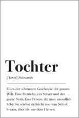 Canvas-taulu  Tochter Definition (German) - Pulse of Art