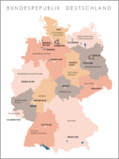 Alumiinitaulu  Federal states and capital cities of the federal republic of Germany