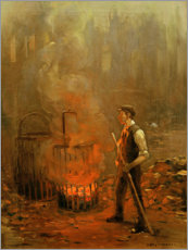 Juliste Worker at the coal stove