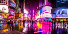 Akryylilasitaulu  Times Square New York after the rain - Haussmann Visuals