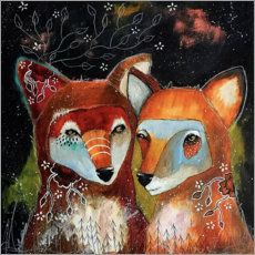 Juliste Foxes - Home is where you are