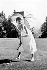 PVC-taulu  Audrey Hepburn golfissa - Celebrity Collection