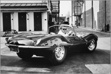 Juliste  Steve McQueen Jaguarissa - Celebrity Collection