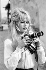 PVC-taulu  Brigitte Bardot ja kamera - Celebrity Collection