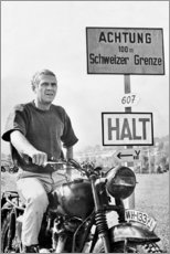 Canvas-taulu  Steve McQueen in The Great Escape - Celebrity Collection