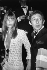 PVC-taulu  Jane Birkin ja Serge Gainsbourg - Celebrity Collection