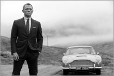 Juliste  Daniel Craig kuin James Bond musta ja valkoinen - Celebrity Collection