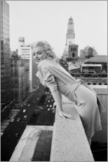 Canvas-taulu  Marilyn Monroe New Yorkissa - Celebrity Collection