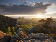 Juliste Sunset in the Elbe Sandstone Mountains