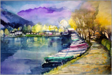 Juliste Fishing boats in autumn, Zell am See