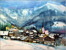 Juliste Alpbach in winter, Tyrol