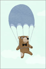 PVC-taulu  Bear with parachute - Julia Reyelt