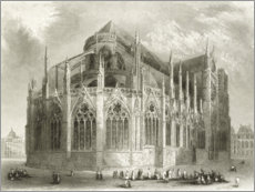PVC-taulu  Notre Dame Cathedral, east side - Hablot Knight Browne