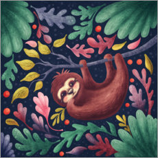 Juliste Sloth in the forest