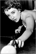 Juliste  Elizabeth Taylor at billiards - Celebrity Collection
