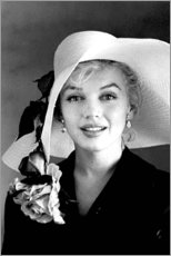 Akryylilasitaulu  Marilyn Monroe with white hat - Celebrity Collection