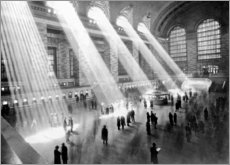Puutaulu  Sunbeams in Grand Central Station