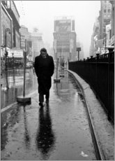 Canvas-taulu  James Dean in Times Square - Celebrity Collection
