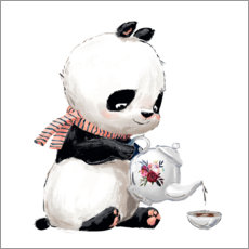 PVC-taulu  Tea time with panda - Kidz Collection