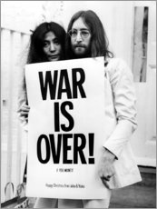 Sisustustarra  Yoko & John - War is over!