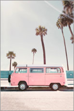 Juliste  Pink Bus under palm trees - Sisi And Seb