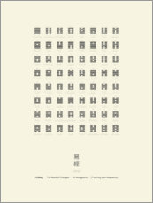 Juliste  I Ching Chart With 64 Hexagrams (King Wen sequence) - Thoth Adan