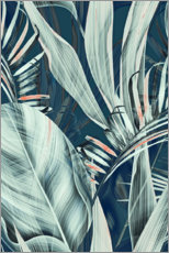 Canvas-taulu  Palm leaves collage - Art Couture