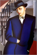 Akryylilasitaulu  Portrait of the Marquis of Afflitto in the staircase, 1926 - Tamara de Lempicka