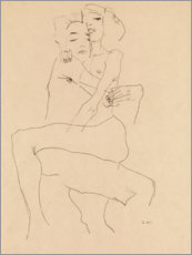 Juliste  Couple Embracing - Egon Schiele